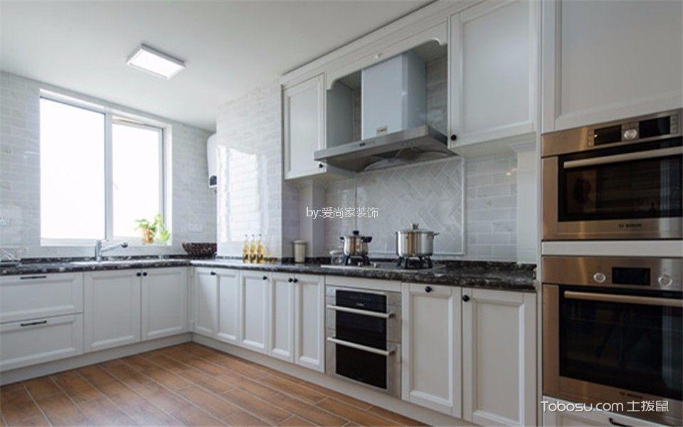 厨房白色厨房岛台欧式风格装饰图片