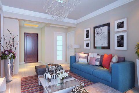 6.8万预算94平米两室两厅装修效果图