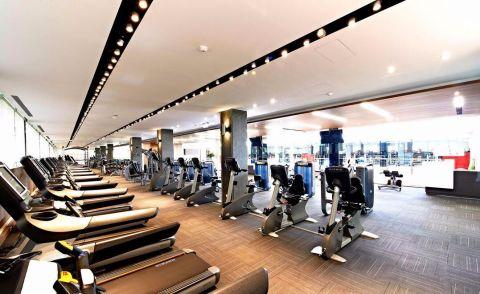 600平米企业员工健身房装修效果图