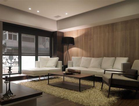 120平米日式风格二居室效果图