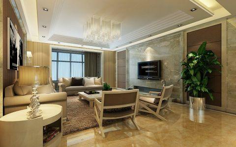 20万预算140平米四室两厅装修效果图