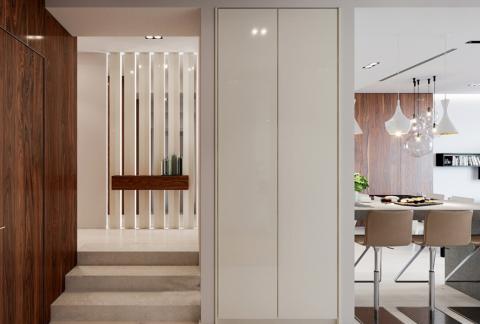玄关楼梯新古典风格装饰效果图