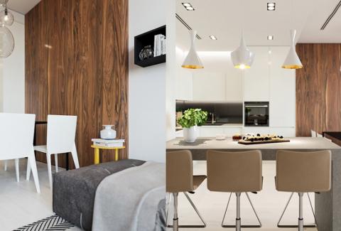 厨房吊顶现代简约风格效果图