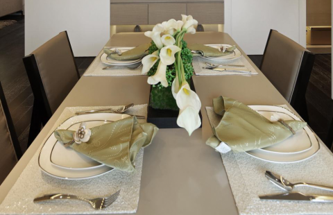 餐厅细节现代简约风格装饰图片