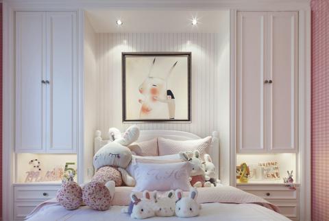 卧室背景墙法式风格装修图片