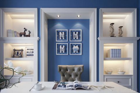 书房博古架法式风格装修设计图片