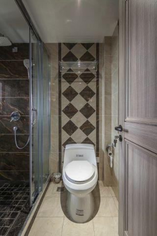 卫生间隔断现代简约风格装饰图片