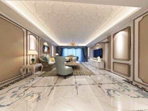 客厅吊顶法式风格装饰效果图