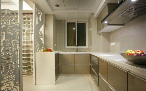 厨房隔断简欧风格装潢图片