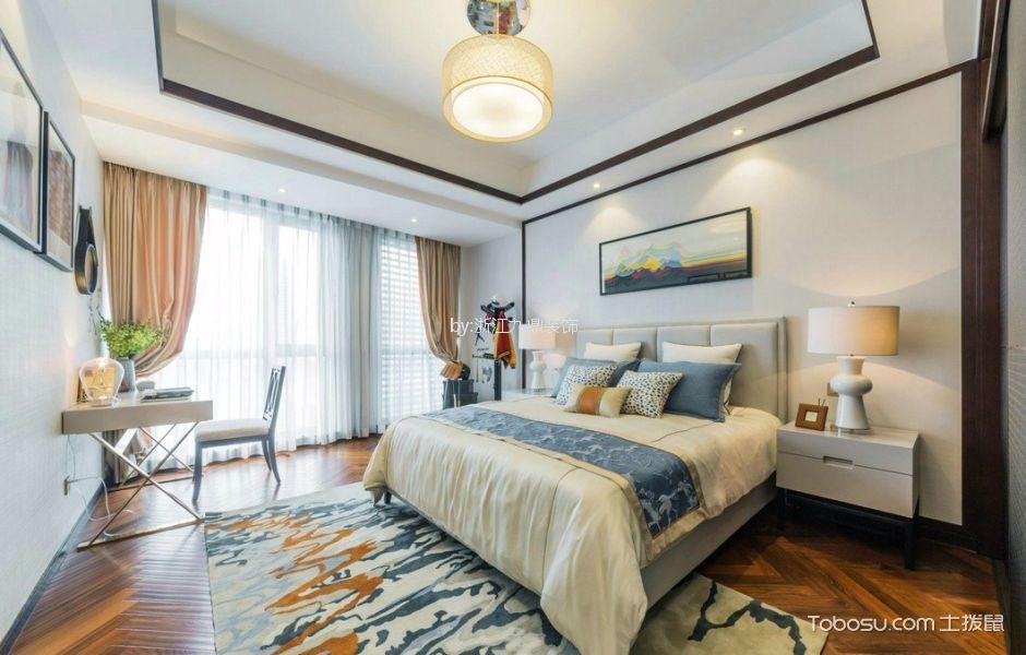 卧室白色书桌中式风格装潢效果图