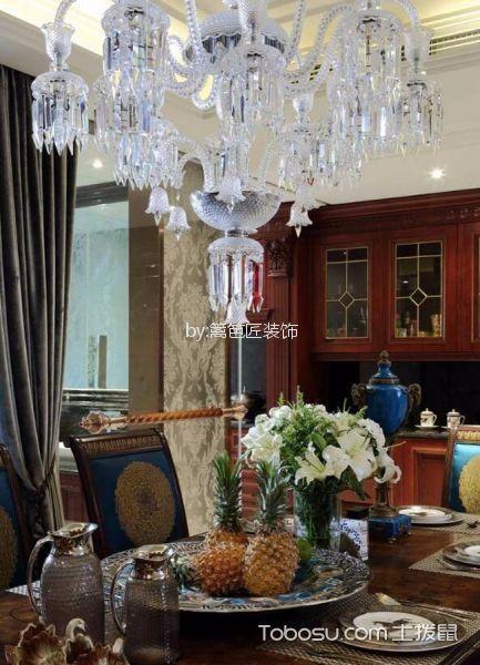 餐厅咖啡色细节美式风格装潢设计图片