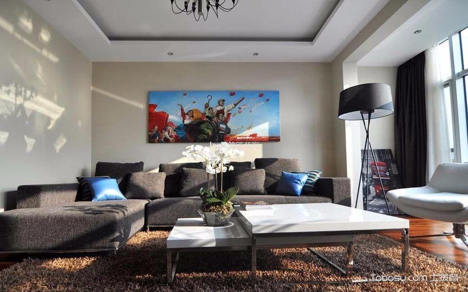 客厅 照片墙_120平三居室现代简约风格装修效果图