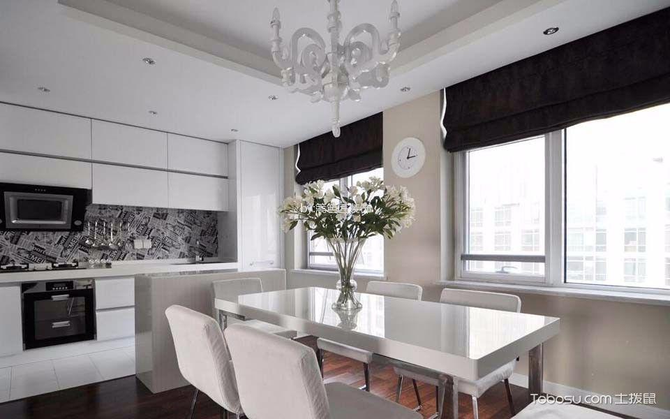餐厅 餐桌_8万预算120平米三室两厅装修效果图