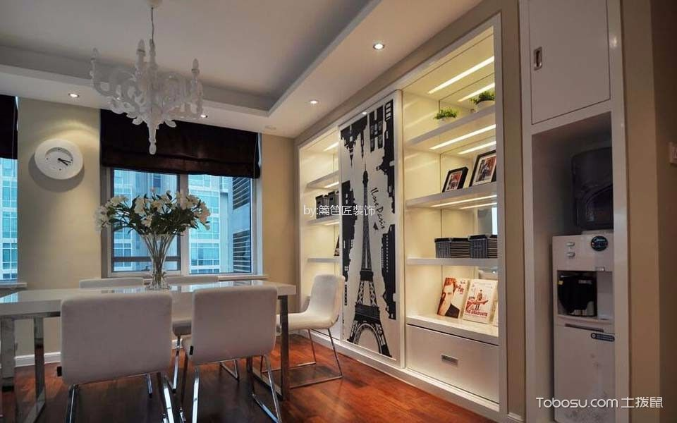 餐厅 窗帘_120平三居室现代简约风格装修效果图