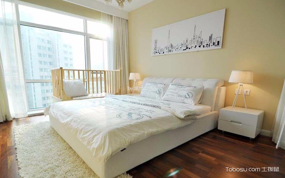 卧室 窗帘_120平三居室现代简约风格装修效果图