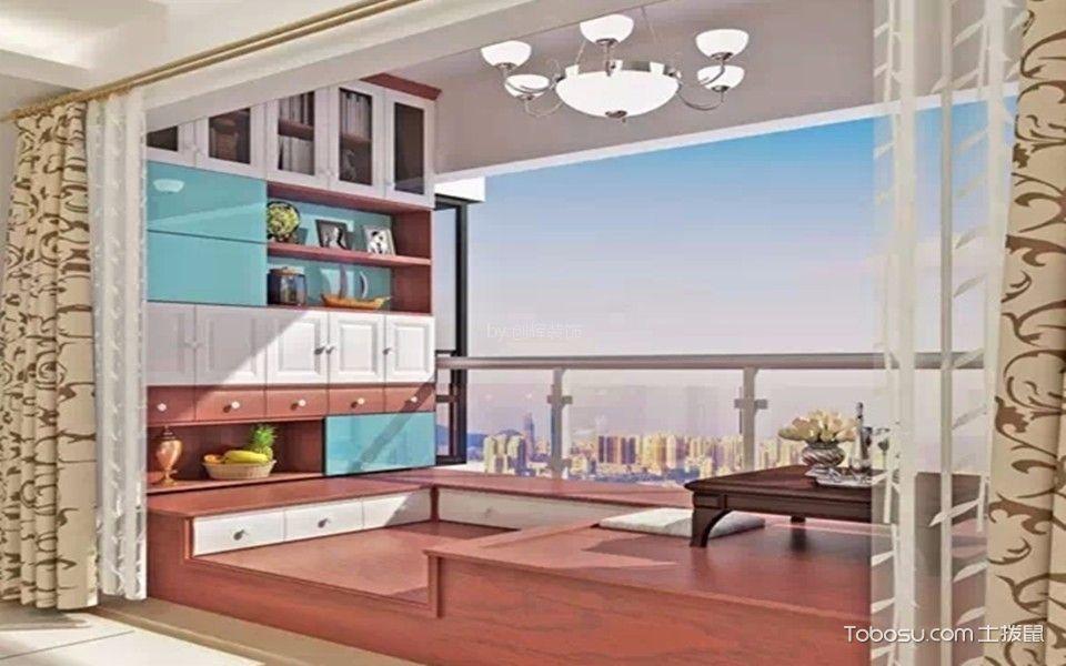 铺新小区现代简约风格效果图  榻榻米 背景墙 吊顶