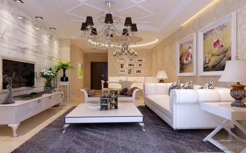 阳光城120平中式古典风格三居室效果图