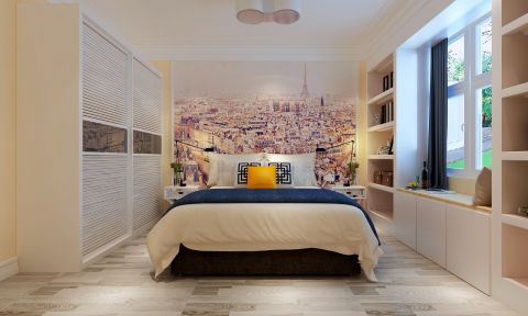 卧室背景墙田园风格装饰效果图