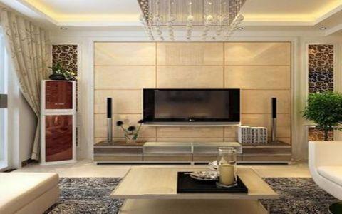 客厅背景墙现代简约风格效果图