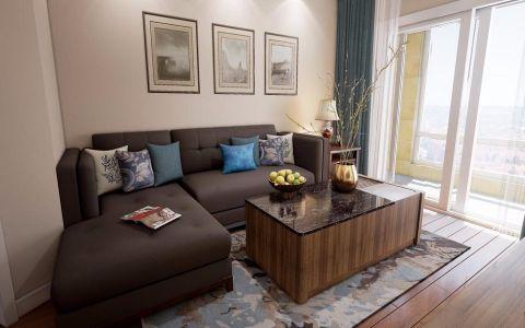 朝阳区广内大街90平美式二居室装修效果图