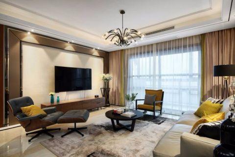 京梁合180平米现代简约风格四室两厅两卫平层实景图