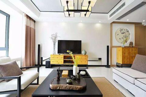 扬州天下新中式风格三居室装修设计图