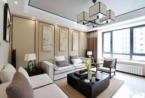 客厅窗台新中式风格装饰设计图片