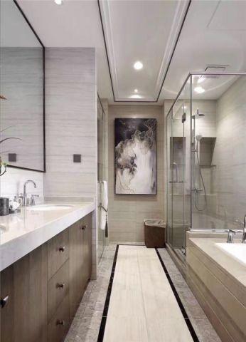 卫生间隔断新中式风格装饰效果图