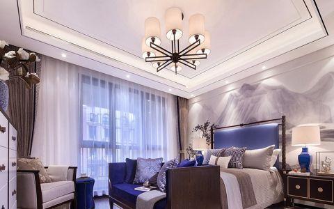 中山华府新中式风格三居室装修效果图