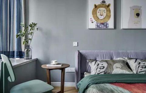 儿童房背景墙简约风格装饰图片