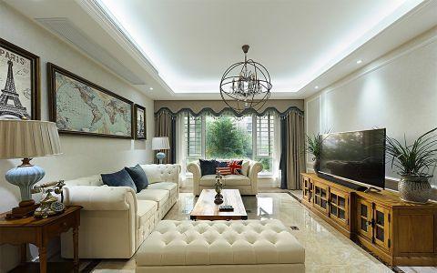 锦润公寓132平简美风格三居室装修效果图