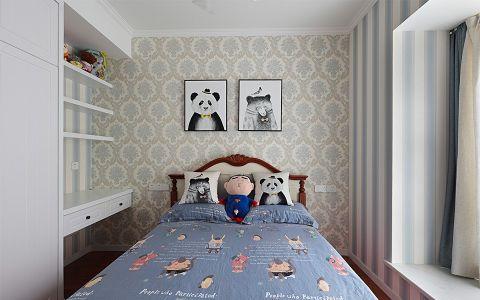 儿童房背景墙美式风格装饰设计图片