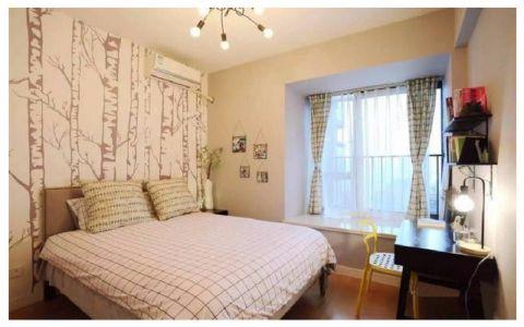卧室飘窗美式风格装饰效果图