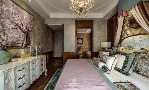 卧室背景墙法式风格效果图
