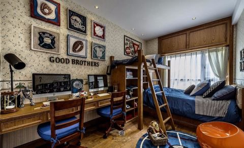 卧室背景墙法式风格装潢效果图