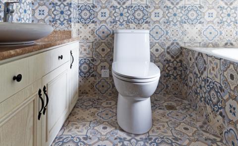卫生间背景墙法式风格装饰效果图