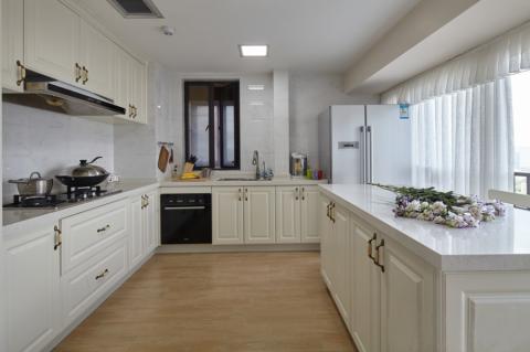 厨房背景墙法式风格装饰效果图