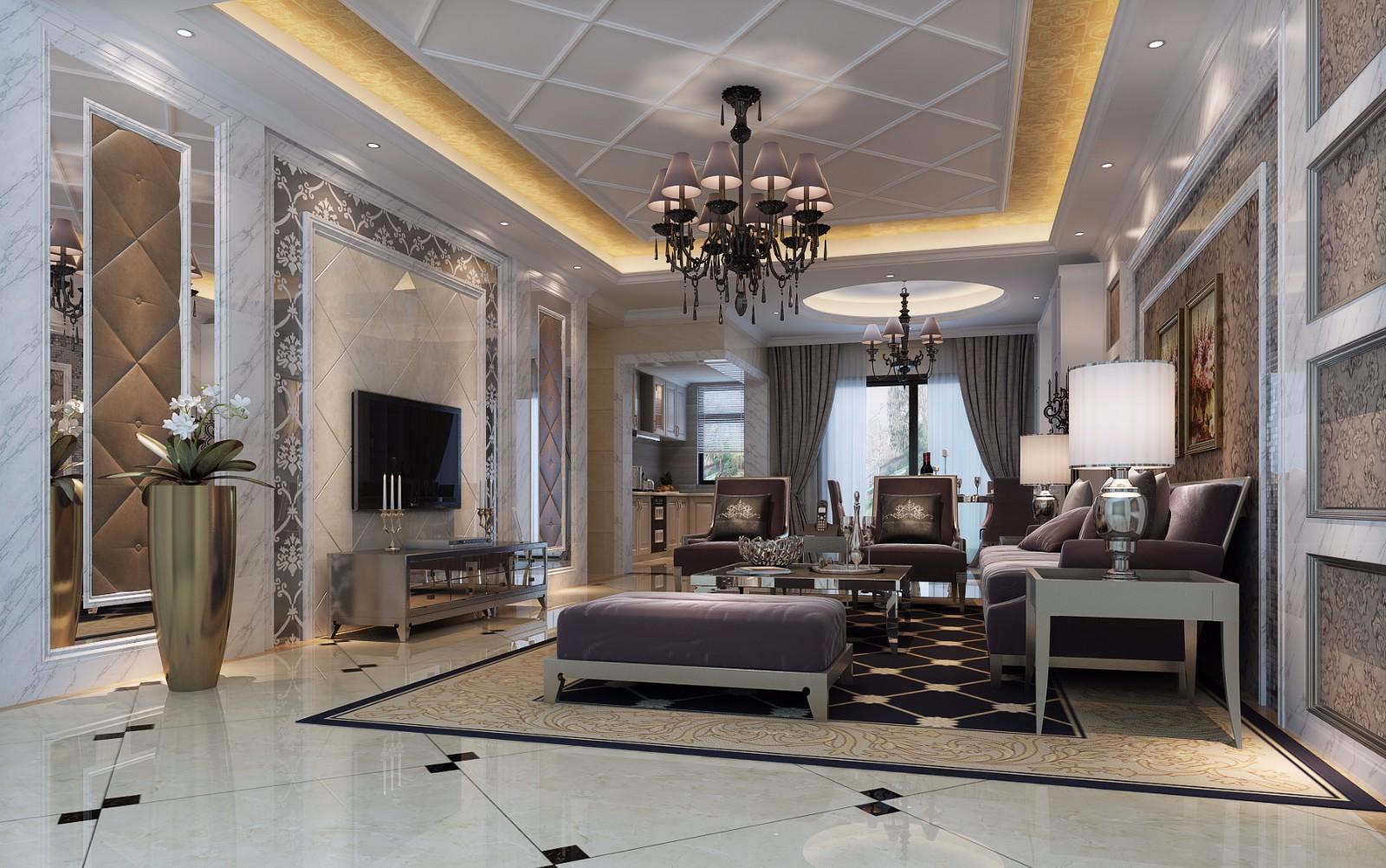 2室1衛2廳103平米簡歐風格