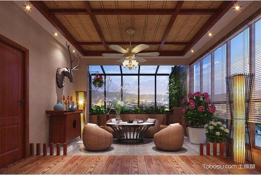阳台白色窗帘中式风格装饰图片