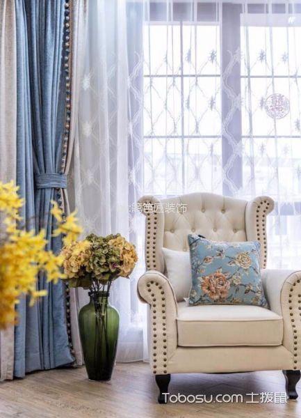 客厅白色细节欧式风格装修效果图