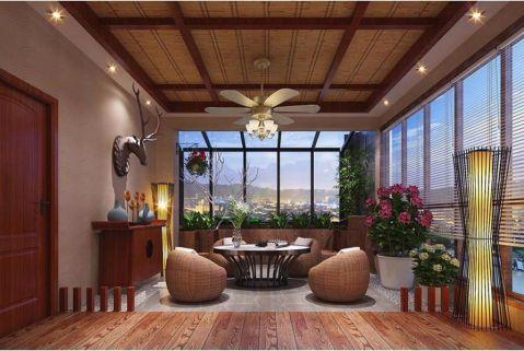 阳台门厅中式风格装饰图片