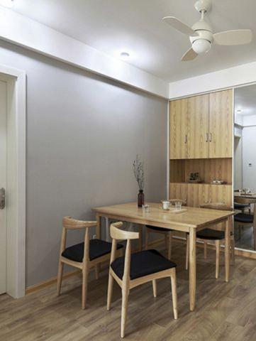餐厅背景墙日式风格装修设计图片