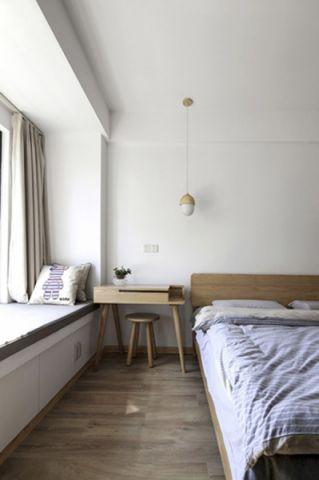 卧室背景墙日式风格装潢设计图片
