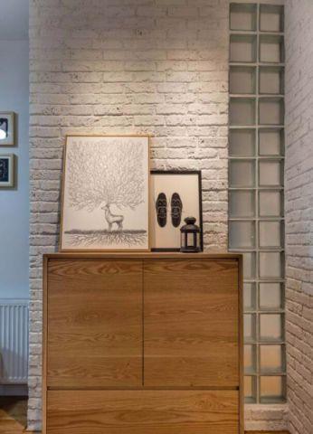 玄关背景墙北欧风格装修图片