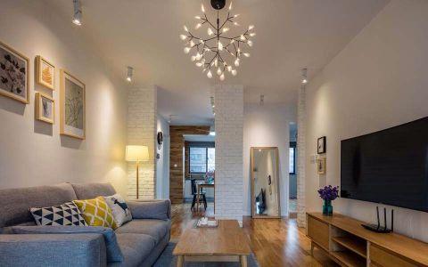客厅吊顶北欧风格装修设计图片