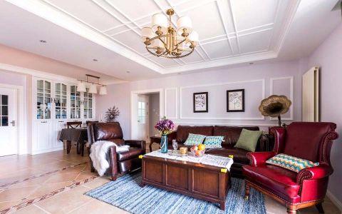 客厅走廊美式风格装潢图片