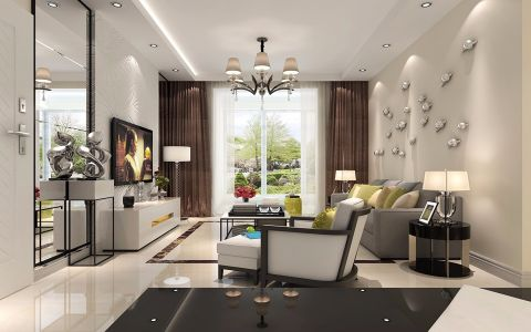 融创实泽园100平米现代简约两居室装修效果图