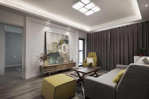 12万预算88平米两室两厅装修效果图