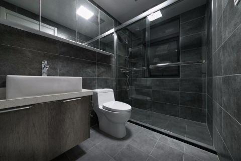 卫生间背景墙北欧风格装修设计图片