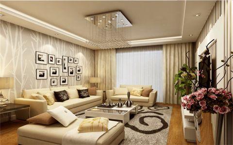 8万预算112平米三室两厅装修效果图